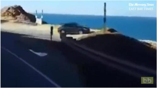 Choc : Il filme une voiture s'envoler d'une falaise pour plonger dans la mer…