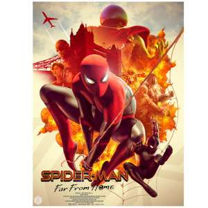 Edition collector – Lithographie Spider-Man : Far From Home