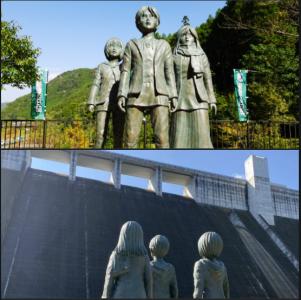 Des statues de bronze pour les 10 ans de publication de L'Attaque des Titans