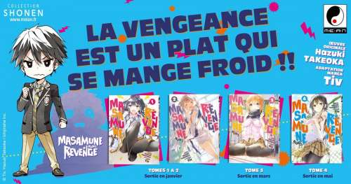 Les éditions Meian présente le manga Masamune-kun's Revenge