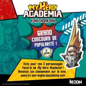 Ki-oon relance le concours de popularité «My Hero Academia» !