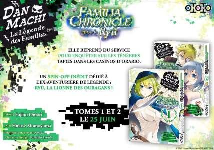 Le manga DanMachi – Familia Chronicle : Episode Ryû chez les éditions Ototo