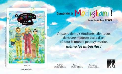 Bande annonce du manga Demande à Modigliani ! chez les éditions naBan