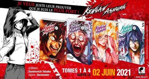 Teaser du manga KENGAN ASHURA, un shônen de baston violent !