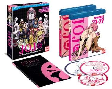La suite de JoJo's Bizarre Adventure Golden Wind en coffret DVD et Blu-ray