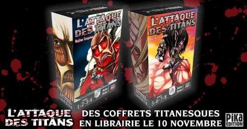 L'Attaque des Titans – Des coffrets pour le manga chez Pika édition !