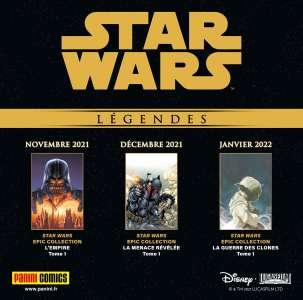 Les comics Star Wars Légendes arrivent chez Panini Comics !!