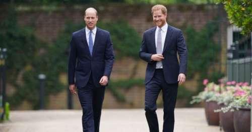 Voilà ce que se sont dit les princes Harry et William devant la statue de Diana