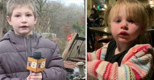 Un garçon de 7 ans retourne dans sa maison en feu pour sauver la vie de sa petite sœur