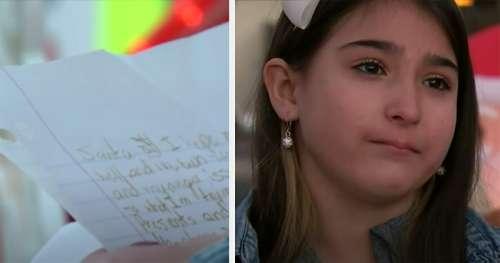 Le facteur ouvre la lettre écrite à la main de la jeune fille qui demande au Père Noël de «mettre fin à ses souffrances»