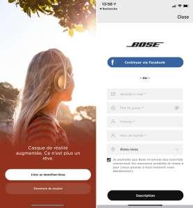 Bose ne demande plus de compte pour utiliser l'app associée à ses produits