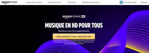 Amazon Music HD : le Lossless et le Dolby Atmos au prix de l'abonnement standard