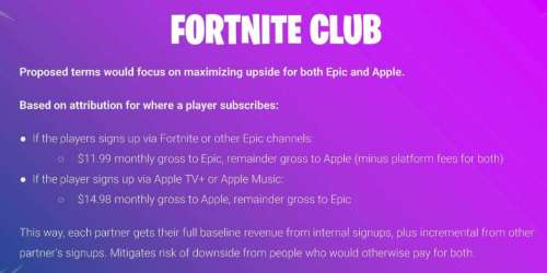 Apple et Epic avaient envisagé un abonnement commun Fortnite, Apple TV+ et Apple Music