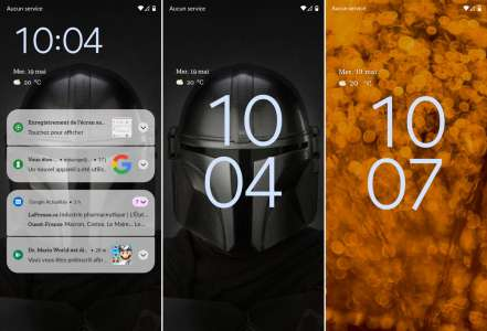 Premier aperçu de la nouvelle interface d'Android 12