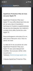 Apple ajoute un an aux précédents contrats AppleCare pour AppleTV
