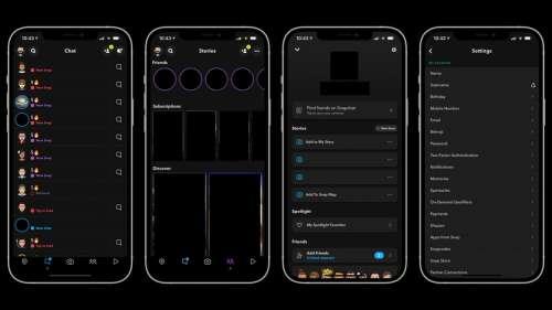 Snapchat a enfin découvert le mode sombre d'iOS