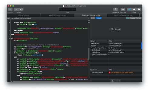 Script Debugger8 prend en charge les Mac Apple Silicon, le mode sombre et BigSur