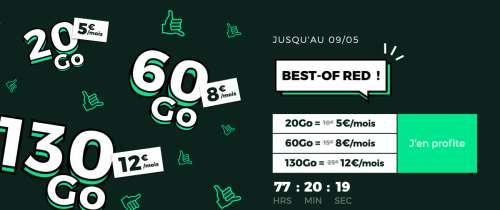 La guerre des prix reprend: 20 Go à 5€ et 60 Go à 8€ chez B&You et SFR RED 🆕