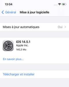 iOS 14.5.1 disponible pour tout le monde, deux grosses failles corrigées