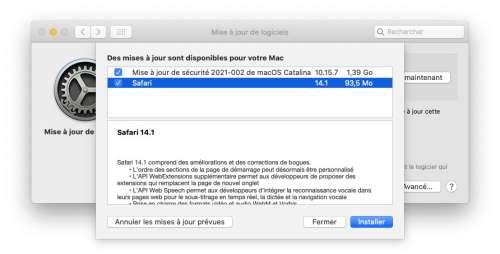 Apple met à jour Safari 14.1 pour Mojave et Catalina 🆕