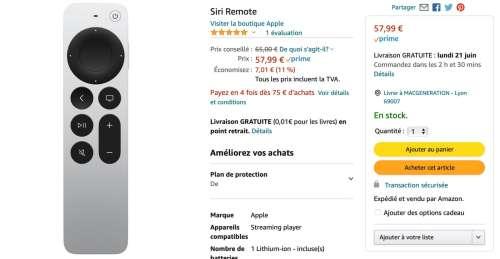 Promo : la Siri Remote 2021 est à58€