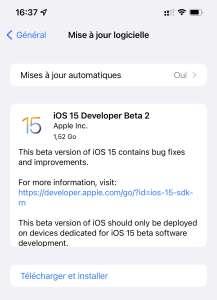 La deuxième bêta d'iOS 15 et d'iPadOS 15 est arrivée, avec SharePlay