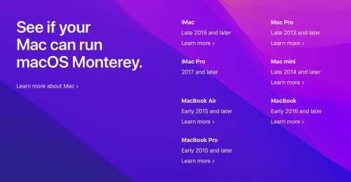 macOS Monterey laisse sur le carreau pas mal d'anciens Mac