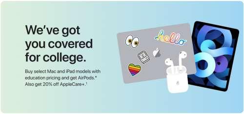 Apple lance l'offre Back to School aux États-Unis et au Canada