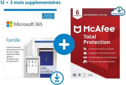 Promo: 15 mois de Microsoft 365 Famille et un antivirus à 68€