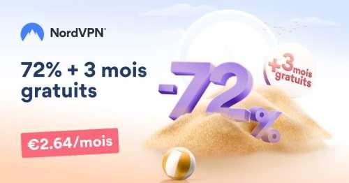 Offre d'été NordVPN ☀️: 3 mois supplémentaires offerts + 72% de réduction !