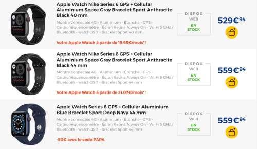 Promo : dernier jour pour -50€ sur les AppleWatchSeries6
