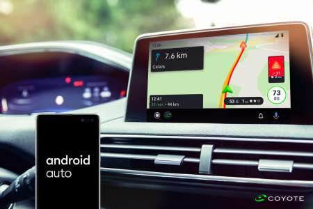 Coyote enfin compatible avec Android Auto