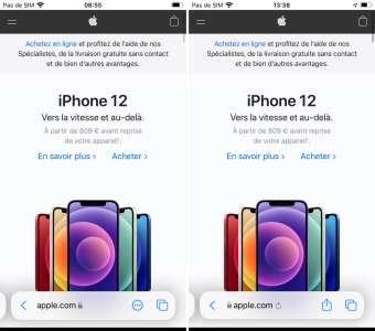 iOS 15 b4: Safari toujours en plein chantier
