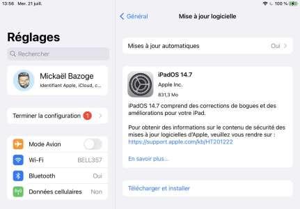 iPadOS 14.7 est lui aussi disponible en version finale