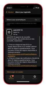 watchOS 7.6 disponible: l'ECG s'étend à 30 pays supplémentaires