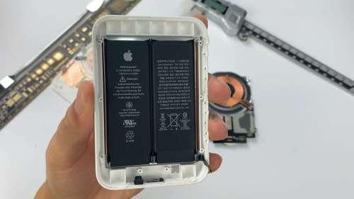 Le démontage confirme qu'il y a bien deux batteries dans la batterie externe MagSafe