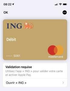 Des clients d'ING victimes d'une arnaque exploitant Apple Pay