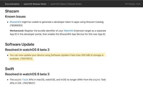 watchOS8 va simplifier l'installation des mises à jour sur les Series3