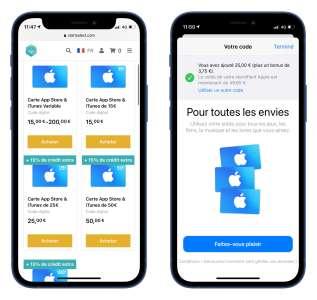 Bon plan: 15% de crédit bonus sur les cartes AppStore de 25€ et plus [terminé]