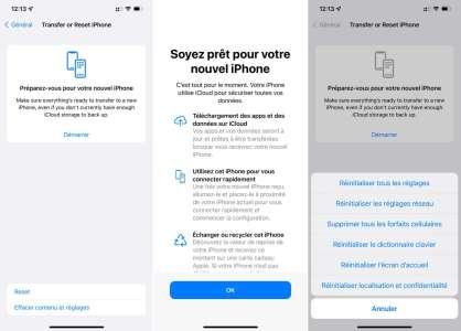iOS 15 facilite le transfert vers un nouvel iPhone