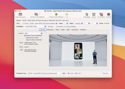 Vidéo : Handbrake 1.4 finalisé pour les Mac AppleM1