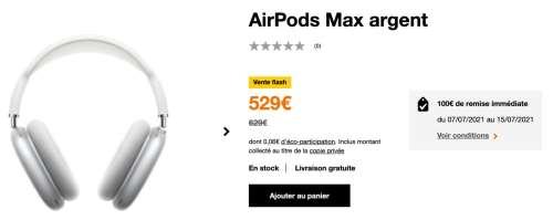 Promo : l'AirPods Max à 529€ en vente flash