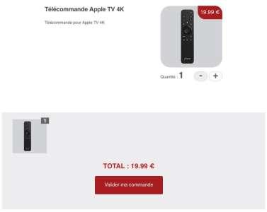 Free vend sa télécommande pour l'AppleTV à 20€
