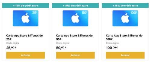 Promo : 15 % de crédit bonus sur les cartes AppStore & iTunes chez Startselect