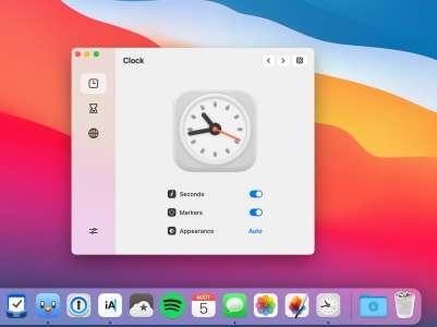 Clock mini, une petite horloge pour macOS et son Dock