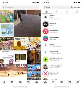 Instagram va inclure des photos dans les résultats de recherche
