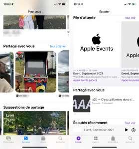 iOS 15 : Partagé avec vous n'est pas toujours partageur