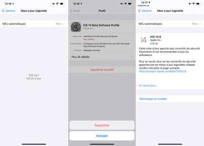 iOS 14.8 : comment faire si la mise à jour n'apparaît pas