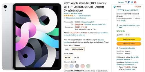Promo : de 100 à 280€ de réductions sur des iPad Air et iPadPro