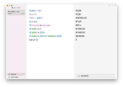 Soulver 3.5 : grosse mise à jour pour la calculatrice en langage naturel